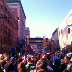 Photo taken at Super Bowl Village by Andy @. on 2/5/2012