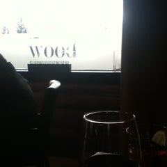 Photo taken at The Wood Restaurant and Lounge by Felipe V. on 3/22/2012