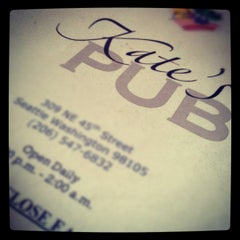 Photo taken at Kate's Pub by Ryan M. on 5/2/2012