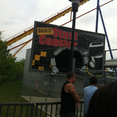 Photo taken at Backlot Stunt Coaster by Michelle S. on 5/27/2012
