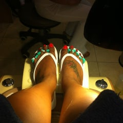 Photo taken at Lexy's Nail & Massage by Victoria S. on 6/15/2012
