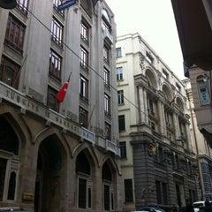 Photo taken at Bankalar Caddesi by Osman Emir Bayman on 3/14/2012