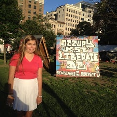 Photo taken at Occupy K St. by Scott D. on 5/20/2012