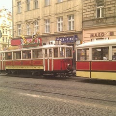 Photo taken at Strossmayerovo náměstí (tram) by Stanislav K. on 4/20/2012