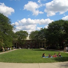 Photo taken at Wriston Quad by Brown University on 3/12/2012