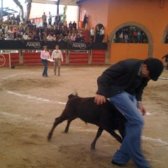 Photo taken at Plaza de Toros Arroyo by Paola A. on 7/14/2012