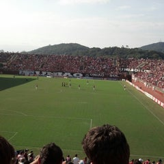 Photo taken at Estádio Arena Joinville by Rafael S. on 9/1/2012