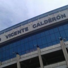 Photo taken at Estadio Vicente Calderón by Nabil Lights O. on 5/20/2012