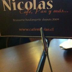 Photo taken at Nicolas Café by Nessa on 8/24/2012