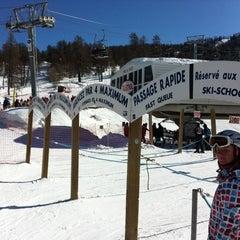 Photo taken at Risoul 1850 by Gianmarco B. on 2/21/2012