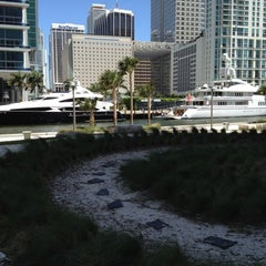 Photo taken at Miami Circle Park by Eric M. on 4/17/2012