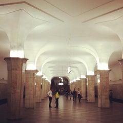 Photo taken at Метро Кропоткинская (metro Kropotkinskaya) by Алексей on 6/8/2012