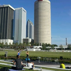 Photo taken at Curtis Hixon Waterfront Park by Archana R. on 4/1/2012