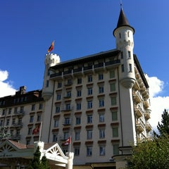 Photo taken at Gstaad Palace Hotel by Chinaphong K. on 7/16/2012
