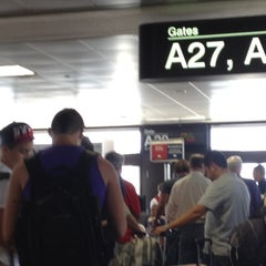 Photo taken at Gate A30 by Allen S. on 7/31/2012