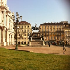 Photo taken at Piazza Carlo Alberto by Massimo A. on 3/13/2012