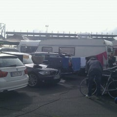 Photo taken at Nürburgring Mercedes-Tribüne by Thomas B. on 9/1/2012