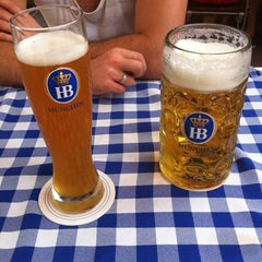 Photo taken at Hofbräu München Beer Hall by Diana M. on 6/3/2012