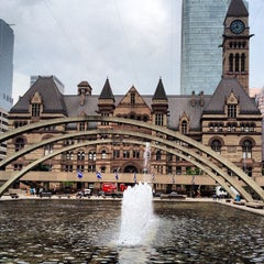 Photo taken at Nathan Phillips Square by Thomas on 5/29/2012