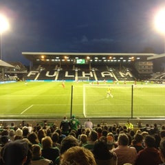 Photo taken at Craven Cottage by Paul M. on 9/11/2012