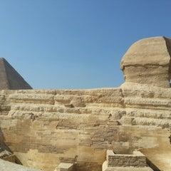 Photo taken at Great Sphinx of Giza | تمثال أبو الهول by Vladeta R. on 9/6/2012