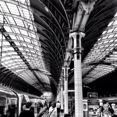 Photo taken at Heathrow Express Train - Paddington [PAD] to Heathrow [HXX] by Steven E. on 7/5/2012