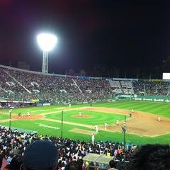 Photo taken at 사직야구장 (Sajik Baseball Stadium) by JY on 4/28/2012