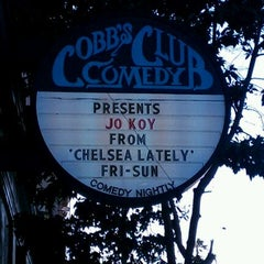 Photo taken at Cobb's Comedy Club by Rebecca A. on 7/21/2012