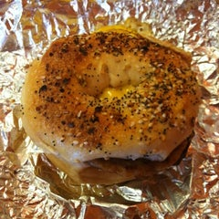 Photo taken at Towson Hot Bagels by Emily J. on 7/22/2012
