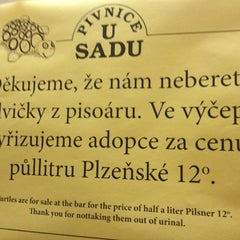 Photo taken at U Sadu by Přemysl P. on 8/15/2012