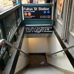 Photo taken at MTA Subway - Fulton St (A/C/J/Z/2/3/4/5) by Michel L. on 5/18/2012