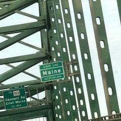 Photo taken at Piscataqua River Bridge by Heidi B. on 8/25/2012