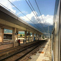 Photo taken at Stazione di Rovereto by Alper Ç. on 7/31/2012