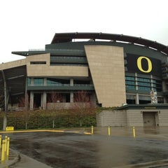 Photo taken at Autzen Stadium by Mike T. on 3/14/2012