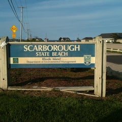 Photo taken at Scarborough State Beach by Donna S. on 5/18/2012