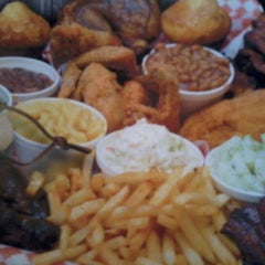 Photo taken at Mr. BBQ by Trever C. on 4/9/2012