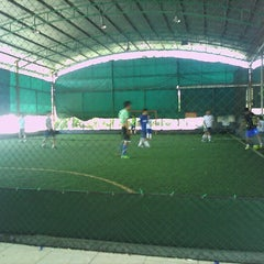 Photo taken at Futsal Galuh Mas by Papua Y. on 6/17/2012