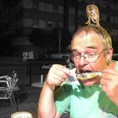 Photo taken at Terraza de Bar Aurelio - Mérida by Arild H. on 7/14/2012