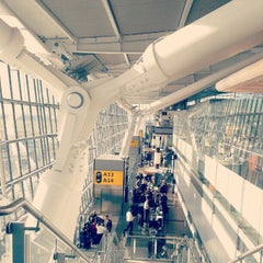 Photo taken at London Heathrow Airport (LHR) by Dmitry S. on 9/9/2012