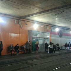 Photo taken at Tram T1/T2 Cornellà Centre by Anna on 3/10/2012