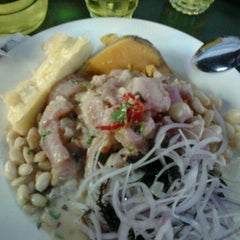 Photo taken at Cevicheria Picanteria El Paisa by jonathan c. on 7/7/2012