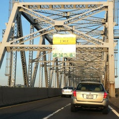 Photo taken at Outerbridge Crossing by Dana B. on 3/30/2012