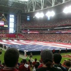 Photo taken at University of Phoenix Stadium by Megan P. on 9/11/2012