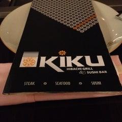Photo taken at Kiku Hibachi Grill & Sushi Bar by Mackenzie on 8/8/2012