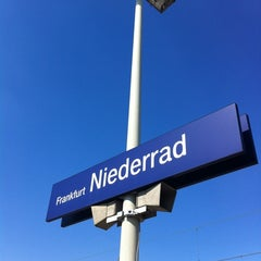 Photo taken at Bahnhof Frankfurt-Niederrad by Henrik . on 5/24/2012