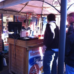 Photo taken at Westover Market Beer Garden by Andy T. on 4/6/2012