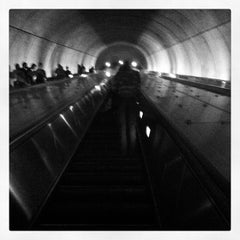 Photo taken at Woodley Park-Zoo/Adams Morgan Metro Station by Jay T. on 5/15/2012