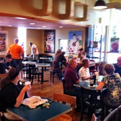 Photo taken at Einstein Bros Bagels by Gregory W. on 7/28/2012