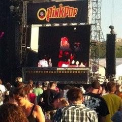 Photo taken at Pinkpop by Bernier H. on 5/26/2012
