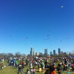 Photo taken at Zilker Park by Logan L. on 3/4/2012
